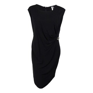 NY Collection Women's Plus Size Sleeveless B-Slim Side-Buckle Dress