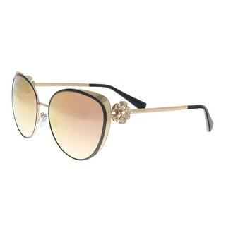 Bulgari BV6092B 239/6F Black/ Pink Gold Cat eye Sunglasses - 57-17-135