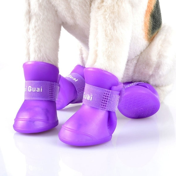Waterproof Dog Boots In 4 Colors. Opens flyout.