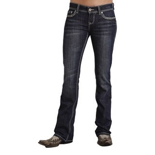 Stetson Western Denim Jeans Womens Bootcut Dark