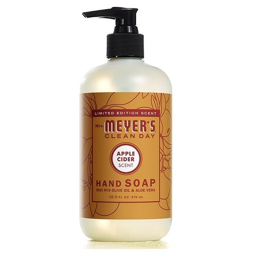 Mrs. Meyer's Clean Day 70049 Apple Cider Liquid Hand Soap, 12.5 Oz