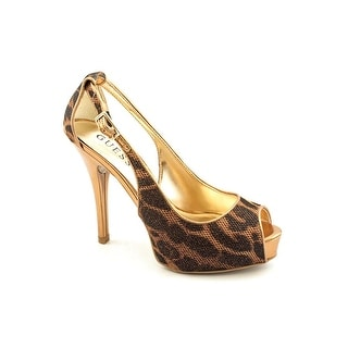 Guess Hondola Women Open Toe Canvas Platform Heel