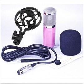 Professional Condenser Cardioid Recording Microphone 4 Broadcast Studio Computer Pink