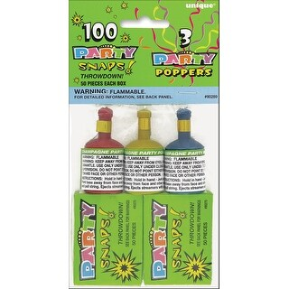 Snaps (100 Count) & Poppers (3 Count) - Party Favors