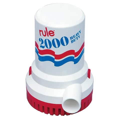Rule 31494M RULE 2000 GPH NON AUTOMATIC BILGE PUMP 12V - Multicolor