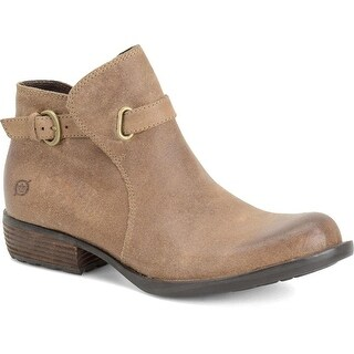 Born Womens Jem Leather Almond Toe Ankle Fashion Boots