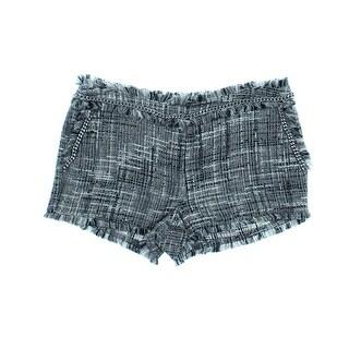 Rachel Zoe Womens Metallic Tweed Shorts - 2