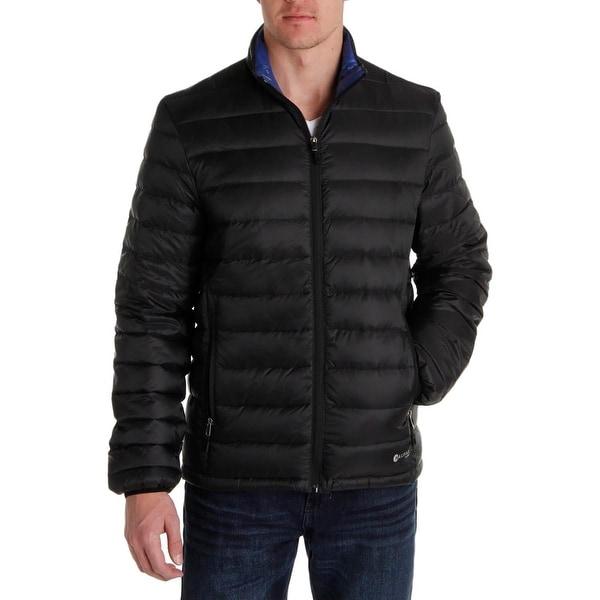 Heather Grey HFX Mens Nylon Down Packable Puffer Jacket Medium