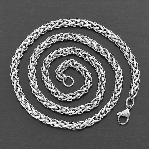 Crucible Stainless Steel Spiga Chain Necklace (6mm)