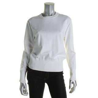 DKNY Womens Pullover Sweater Ribbed Trim Crew Neck