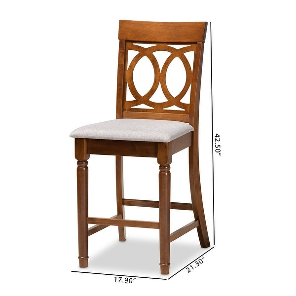 Violet Modern and Contemporary 2-Piece Counter Height Pub Chair Set