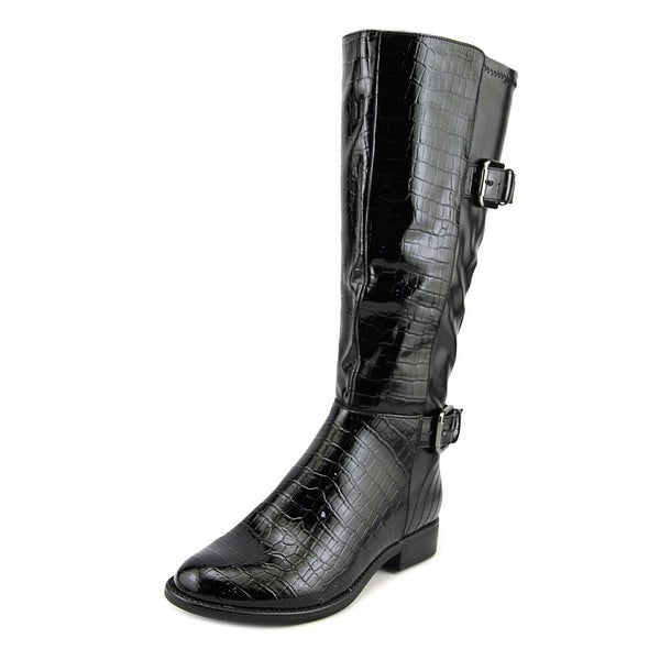 Life Stride Rockin Women Round Toe Synthetic Black Knee High Boot