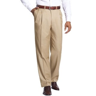 Ralph Lauren Big and Tall Pleated Front and Cuffed Dress Pants Taupe 42 x 30
