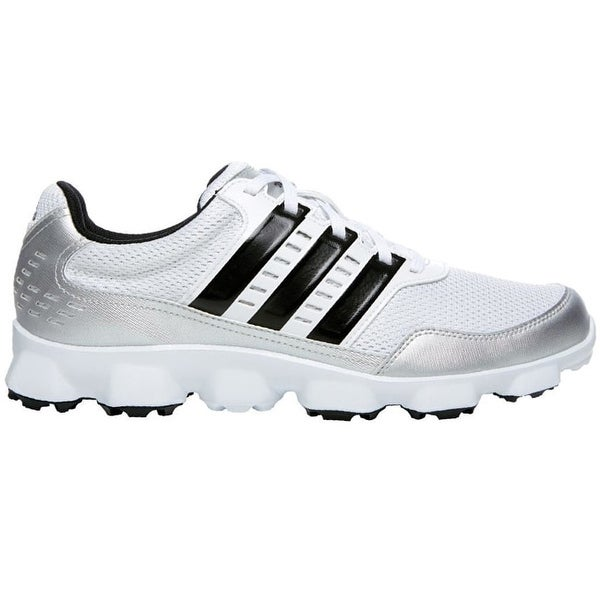 3ca944d9ef2f Shop Adidas Men s Crossflex Sport Running White Black Metallic Silver Golf  Shoes Q46670 - Free Shipping Today - Overstock - 19456129