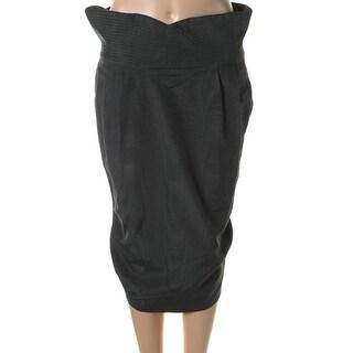 Catherine Malandrino Womens Textured Pleated Pencil Skirt - 4