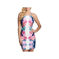 Guess Womens Party Dress Floral Print Halter
