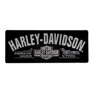 Harley-Davidson V-Twin Bar & Shield Tin Sign 18 x 7-1/8 Black 2010681
