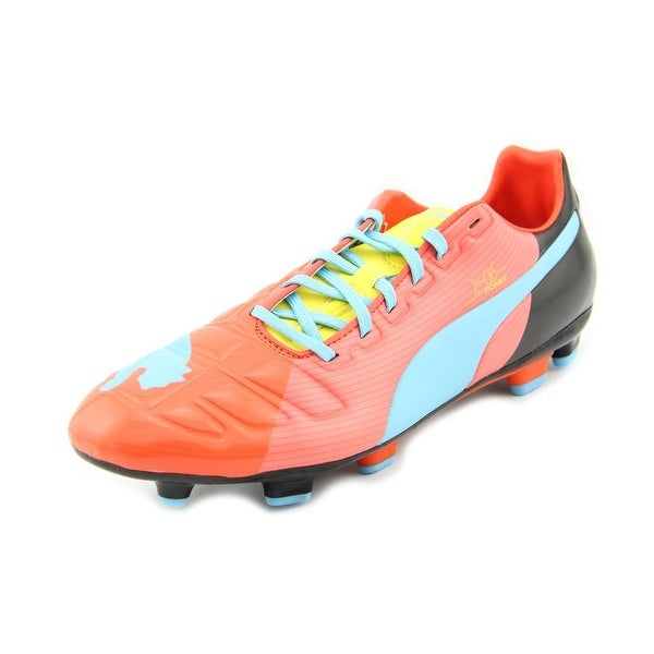 Puma Evopower 3 Graphic Men Round Toe Leather Cleats