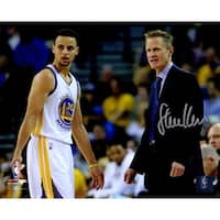 Steve Kerr Golden State Warriors With Stephen Curry 8x10 Photo