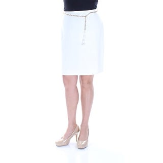 Womens White Casual Skirt Size 0