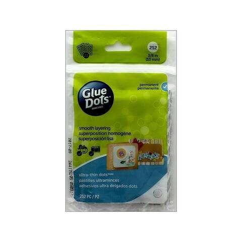 04044e glue dots ultra thin 3 8 sheet 252pc