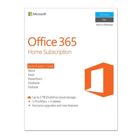 Office 365 1 Year Home Subscription MSSUB08478 - White