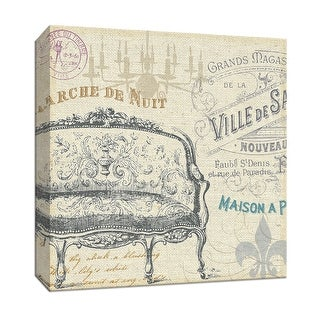 """PTM Images 9-153511  PTM Canvas Collection 12"""" x 12"""" - """"Victorian Vintage III"""" Giclee Text and Symbols Art Print on Canvas"""