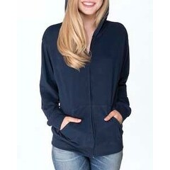 Adult Sueded Full-Zip Hoody MIDNIGHT NAVY XL