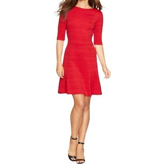 American Living Womens Wear to Work Dress Pointelle Textured