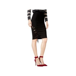 Guess Womens Pencil Skirt Grommet Lace Up