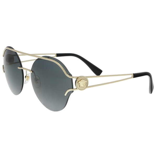 Shop Versace Ve2184 125287 Pale Gold Round Sunglasses 61