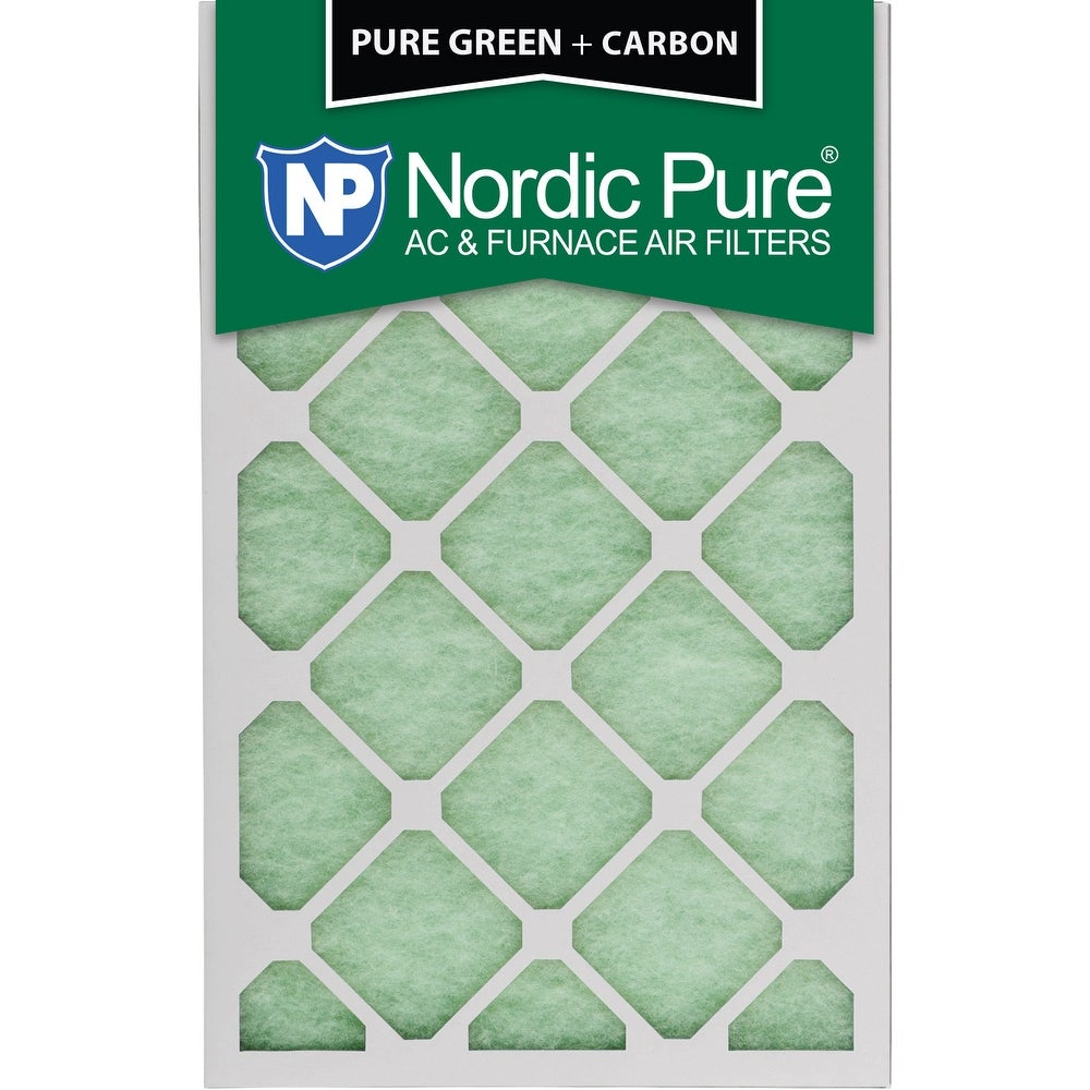 Nordic Pure 16x24x1 Pure Green Plus Carbon AC Furnace Air Filters Qty 24