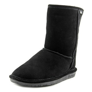 Bearpaw Emma Short Women Round Toe Suede Black Winter Boot