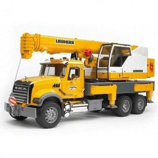 Bruder 02818 Mack Granite Liebherr Crane Truck Toy, Scale 1:16, Age 4+