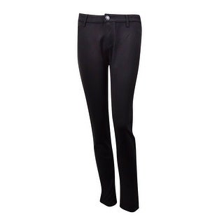 Celebrity Pink Juniors' Skinny Ponte Pants (11, Black) - Black