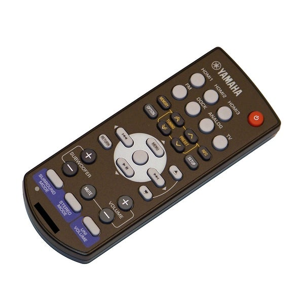 OEM Yamaha Remote Control Originally Shipped With: SR300, SR-300, VD2530, VD-2530, YHTS301, YHT-S301