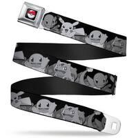 Pok Ball Full Color Black Pikachu & Kanto Starter Pokmon Pok Balls Rays Seatbelt Belt