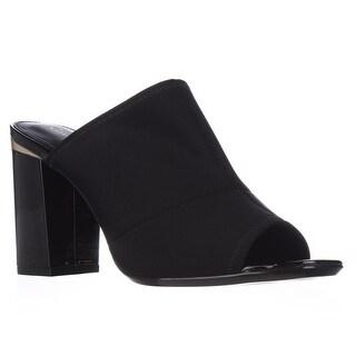 Calvin Klein Cice Peep Toe Mull Dress Sandals - Black