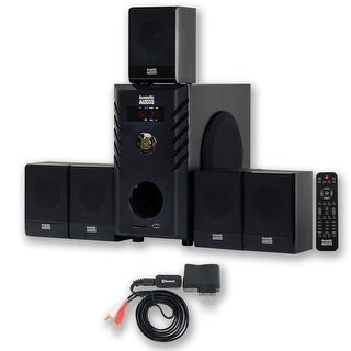 Acoustic Audio AA5104 Home Theater 5.1 Speaker System with Bluetooth Surround Sound