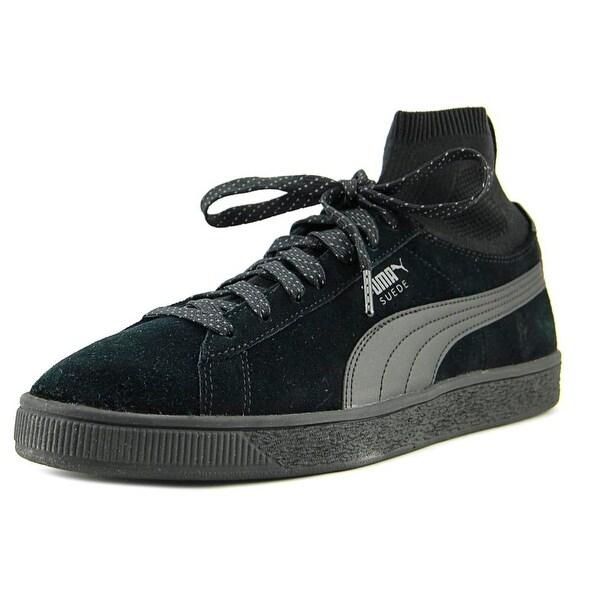 Puma Suede Classic Sock Men Round Toe Suede Black Sneakers