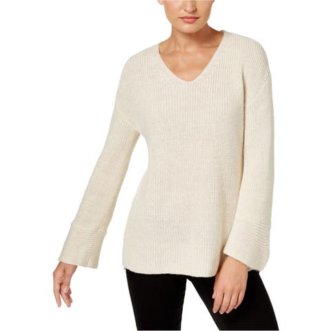 Calvin Klein Womens Flare Sleeve Pullover Sweater