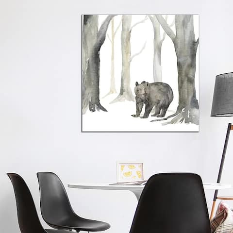 """iCanvas """"Winter Forest Bear"""" by Tara Reed Canvas Print"""