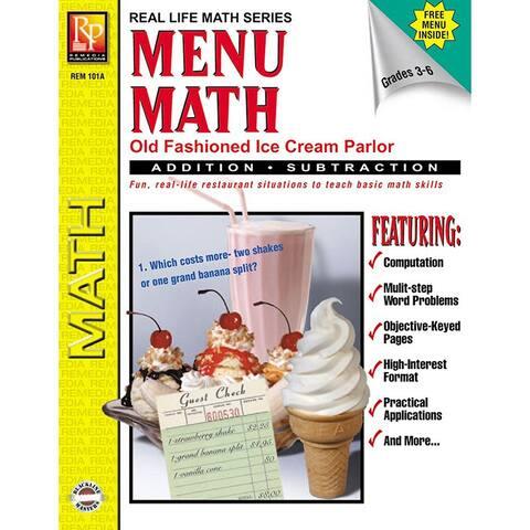 Menu Math Ice Cream Parlor Book-1 Ream Parlor Book 1-Add & Subtract