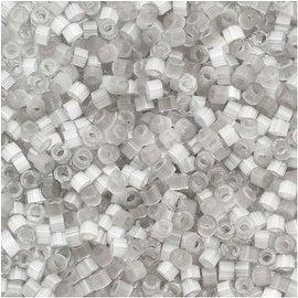 Miyuki Delica Seed Beads 11/0 - Gray Silk Satin DB679 - 7.2 Grams