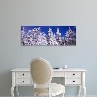 Easy Art Prints Panoramic Image 'View of snow covered trees, Stratton Mountain Resort, Stratton, Vermont' Canvas Art