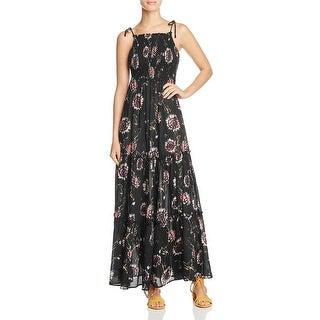 Free People Womens Maxi Dress Floral Print Sleeveless
