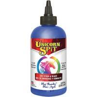 Unicorn Spit Wood Stain & Glaze 8Oz-Blue Thunder
