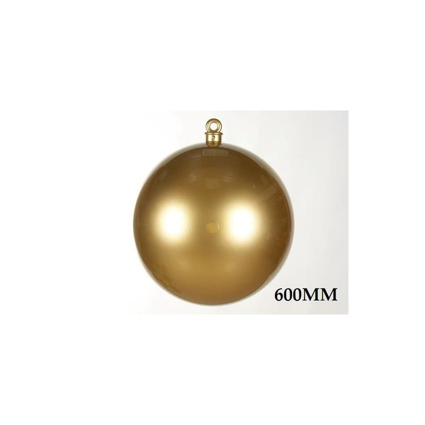Christmas at Winterland WL-ORN-BALL-600-GO 23.6 Inch Ball Ornament Gold Smooth - N/A