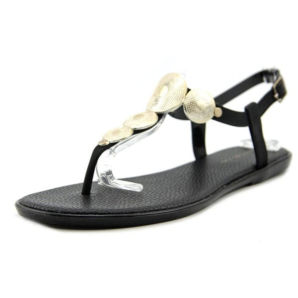 Bandolino Loocho Women Open Toe Synthetic Black Thong Sandal