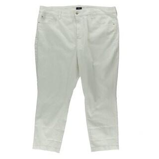 NYDJ Womens Plus Twill Lift Tuck Ankle Jeans - 20W